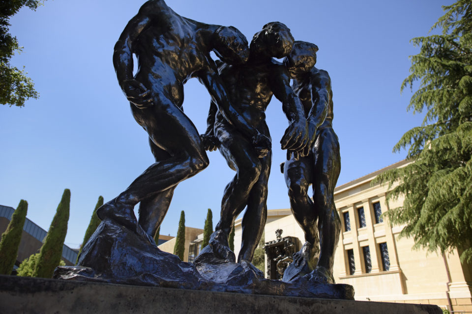 Rodin's Sculpture Garden at the Cantor
