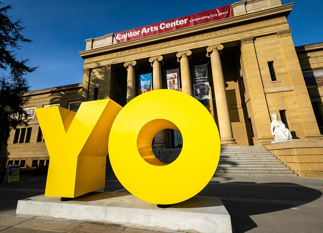 OY/YO by Deborah Kass is now on display at the Cantor.
