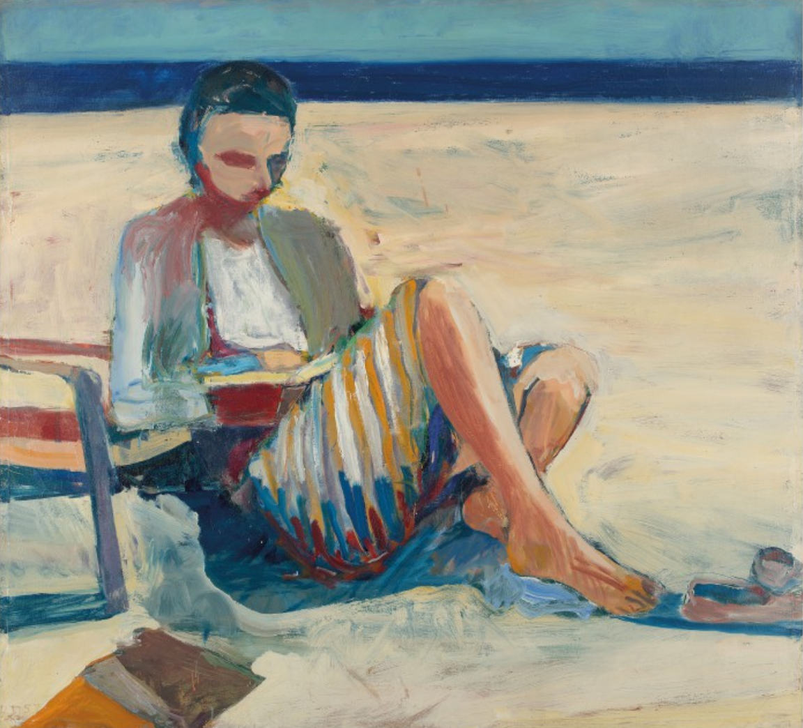 Richard Diebenkorn (1922-1993), Girl on the Beach, 1957. Oil on canvas.