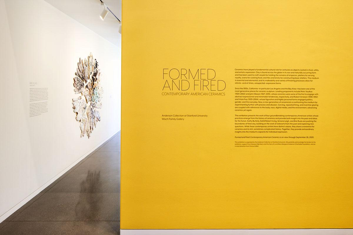A gallery shot of Formed and Fired: Contemporary American Ceramics, at the Anderson Collection